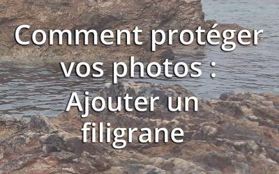 Comment protéger des photos sur le net (1)